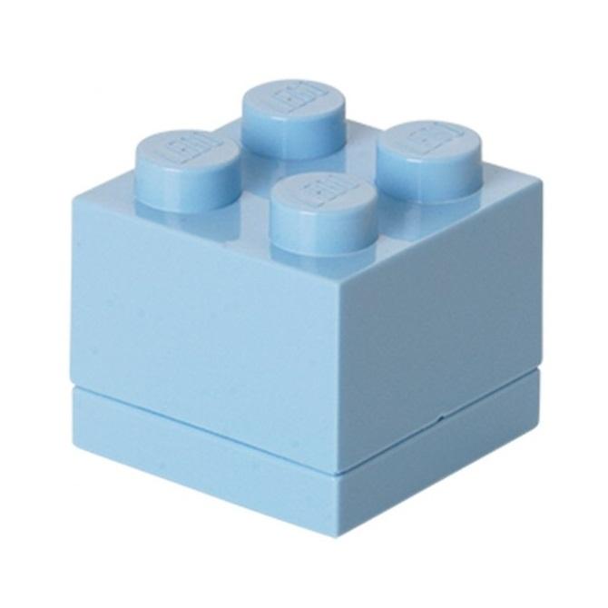 LEGO, Minipudełko klocek 4 - Jasnoniebieskie (40111736)